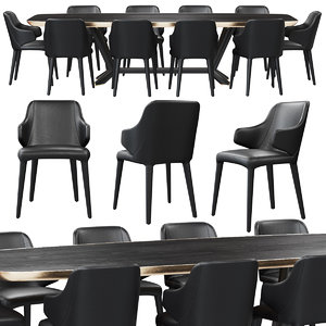 3D model chair cattelan italia wanda