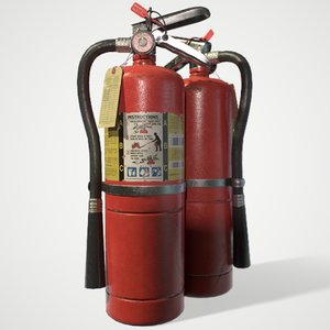 extinguisher abc chemical 3D model