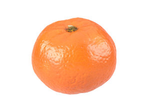 3D model photorealistic scanned clementine