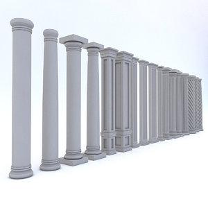 classic column architectural 3D model