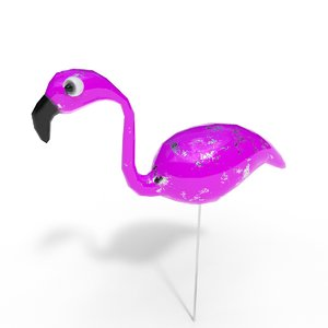 3D flamingo model