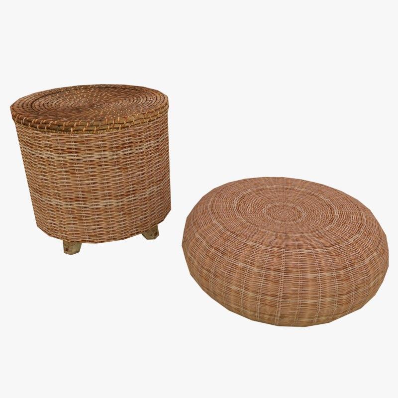 Rattan Chairs 3d Max