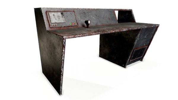 old metal table 3D model