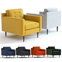 3D west elm drake armchair
