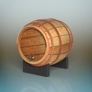 3D barrel container cask
