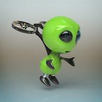 3D alien robot