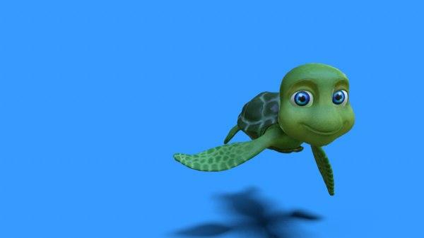 3D swim animation model