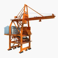 ship unloader crane 3D model