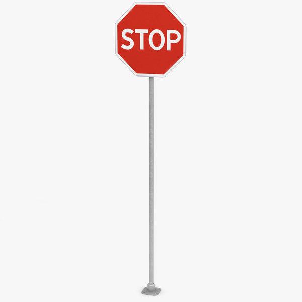 stop traffic sign 3D model