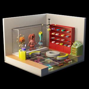 3D shop cloth