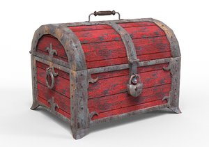 old storage chest 3D model
