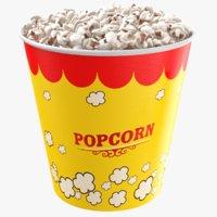 3D real popcorn cup corn