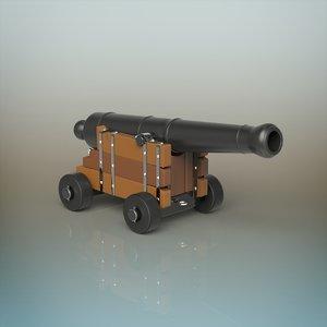 cannon materials 3D model