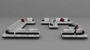 set upholstered furniture hey 3D model