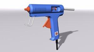 3D glue gun model