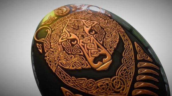 bear - slavic ornament 3D model