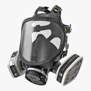 3D safety face respirator