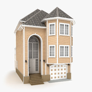 3D model two-story cottage 70