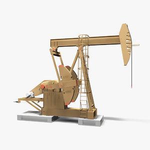 3D model beam pump oil