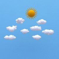 sun clouds 3D model