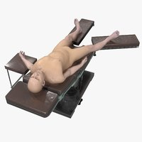male patient operating table 3D model