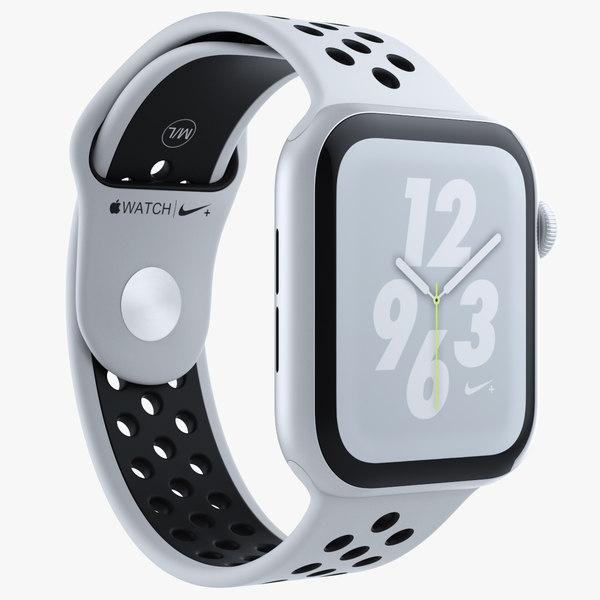 3D white apple watch series model