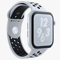 3D white apple watch series model