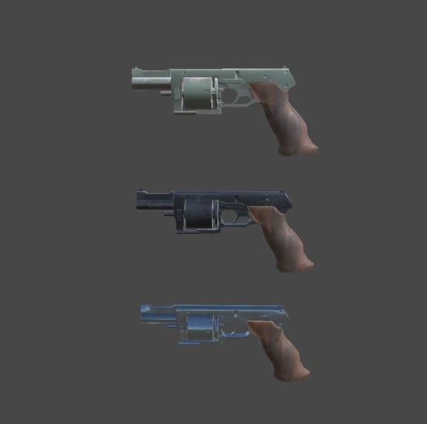 pistol unity 3D model