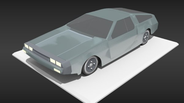 dmc -12 delorean toon 3D