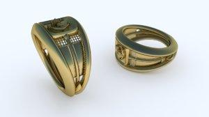 3D sea - signet ring