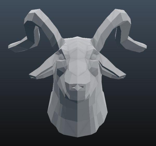 goat 3D model