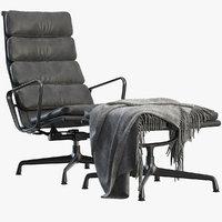 3D soft pad chair model