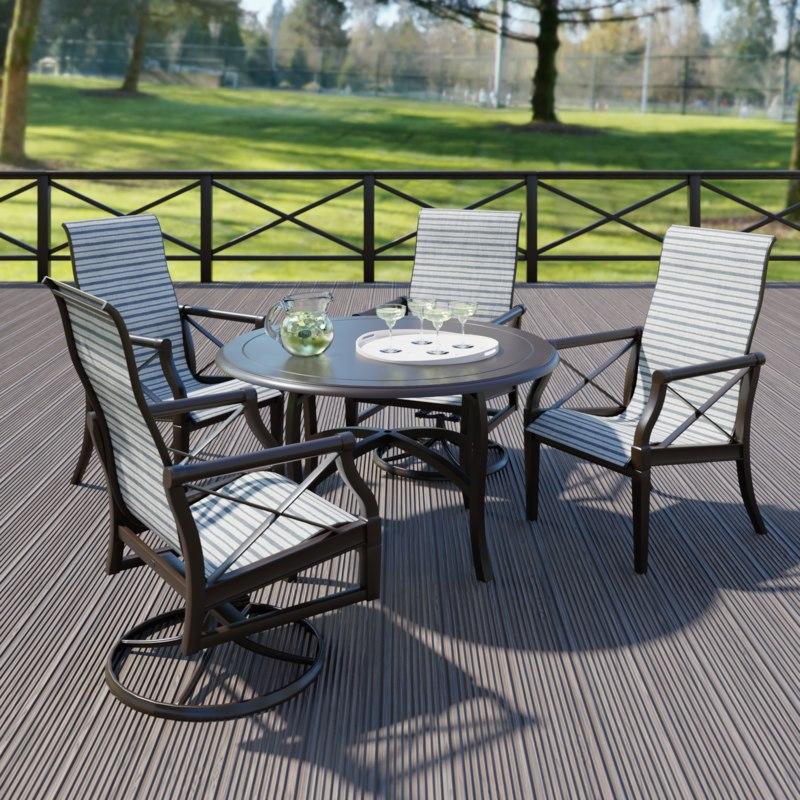 Woodard Sling Patio Furniture.Woodard Andover Sling Dining Set 3d Turbosquid 1389360