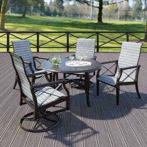 woodard andover sling dining set 3D