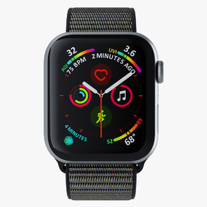 3D apple watch black sports
