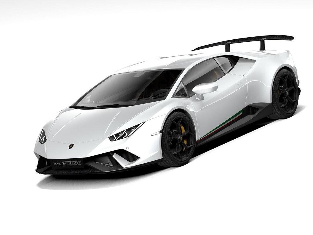 3d Lamborghini Huracan Performante 2020 Turbosquid 1389379