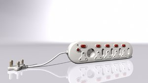 multi-plug switches 3D