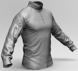3D military combat shirt model