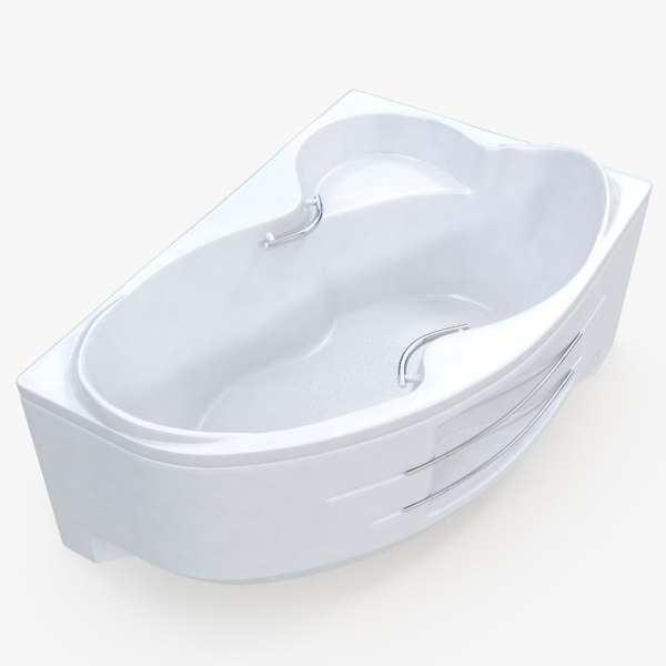 modern bathtub 02 3D model