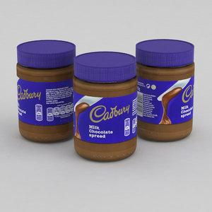 3D chocolate spread