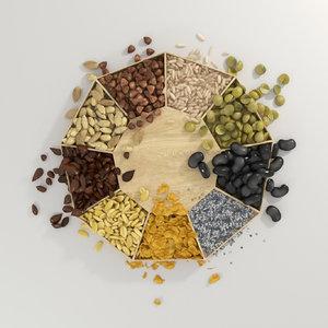 cereals 3D model