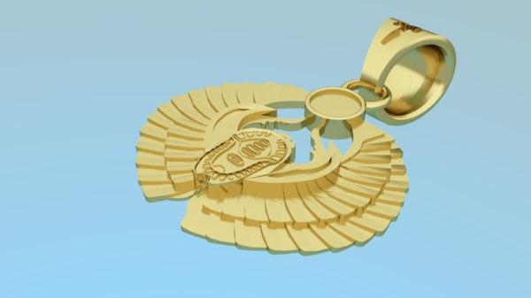 3D pendant - scarab model