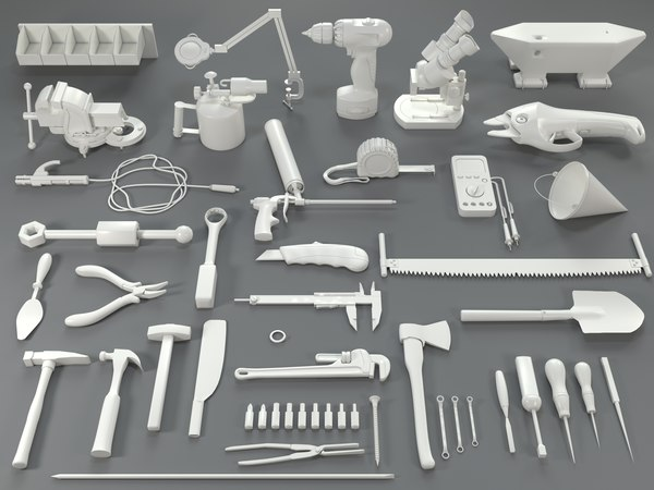 3D tools - 40 pieces model