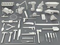 3D tools - 40 pieces model