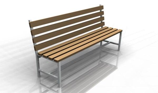 park bench model