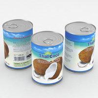 3D food coconut milk