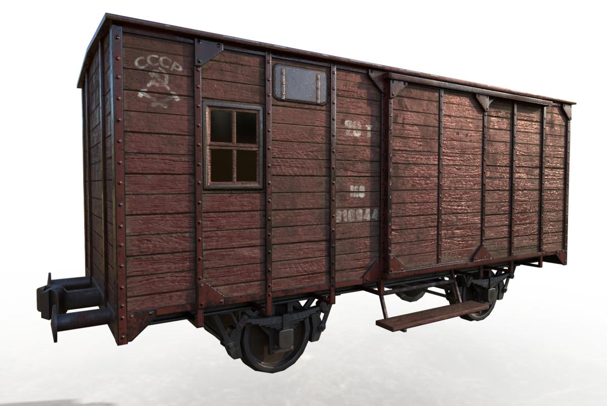 3D model car railroad carriage