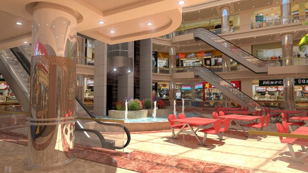 mall interior model