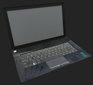 laptop messy 3D model