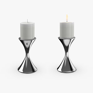 contemporary candle holder 3D